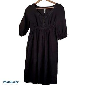🍒 2 for $20 Black old Navy Peasant dress Size S